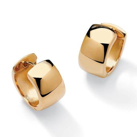 18k Gold over Sterling Silver Hoop Lever-Back Earrings Tailored