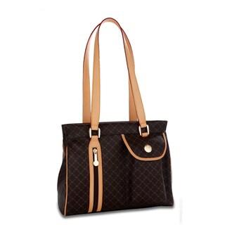 Rioni Brown Signature Shoulder Handbag