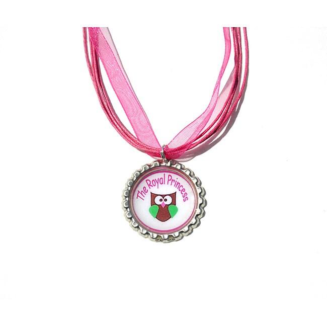 Royal Princess Owl Bottle Cap Necklace