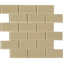 Fawn 2 x 4-inch Shiny Glass Tiles (Pack of 11)