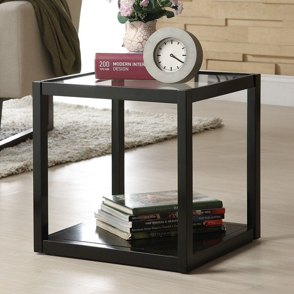 DeeDee Black Stackable Modern Storage Cube