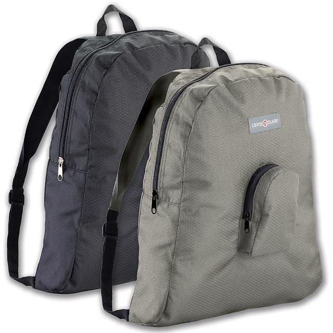 Lewis N. Clark Black Packable Backpack (Set of 2)