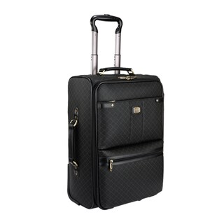 Rioni Signature Black 25-inch Wheeled Upright Suitcase