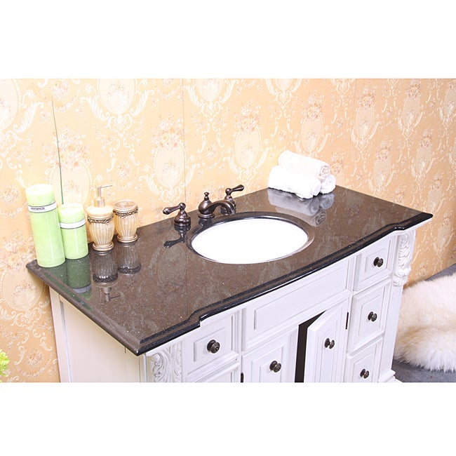 granite top 48 inch single sink bathroom vanity free shipping today