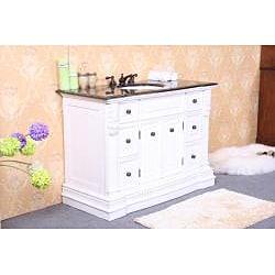 Granite Top 48-Inch Single Sink Bathroom Vanity