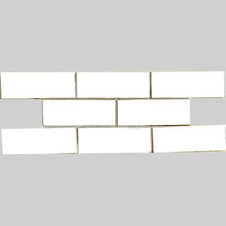 Cotton 3x8-inch Shiny Glass Tiles (Case of 67)