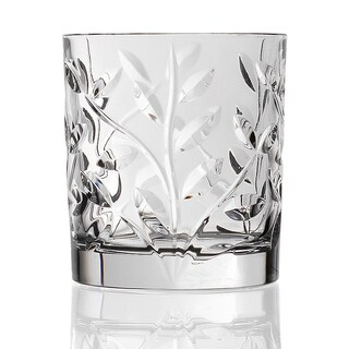 Laurus Collection Crystal Double Old Fashioned Glasses (Set of 6)