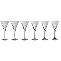 Laurus Collection Crystal Water Goblets (Set of 6)