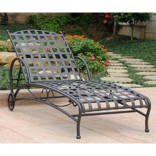International Caravan Santa Fe Nailhead Multi Position Chaise Lounge