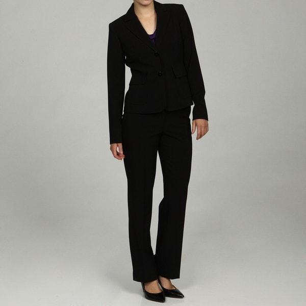 Calvin Klein Women's Petite Black Pant Suit
