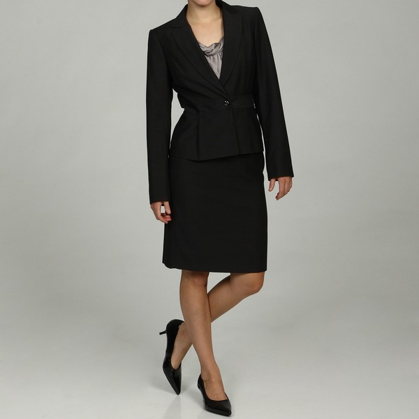 Calvin Klein Petite Charcoal 2-piece Skirt Suit FINAL SALE