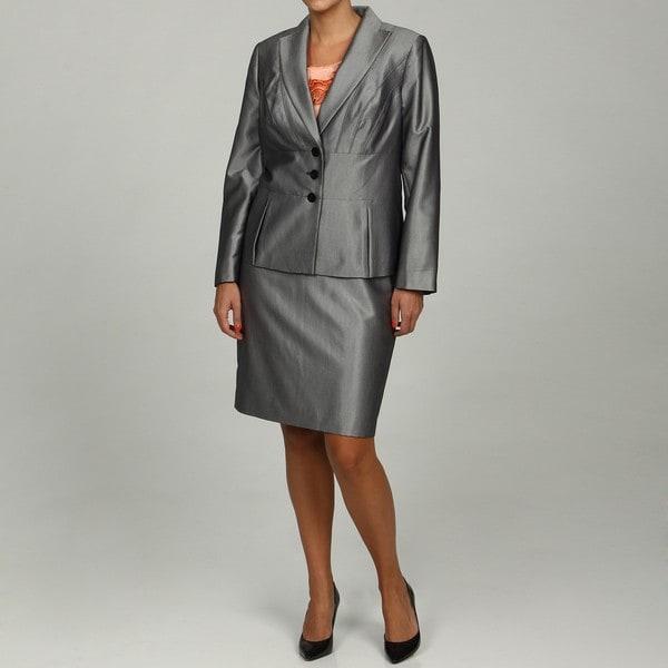 Calvin Klein Women's Navy/ Cream 2-piece Skirt Suit FINAL SALE