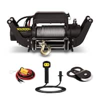 Champion 10,000-lb. Truck/SUV Winch Kit with Speed Mount and Remote Control - Black