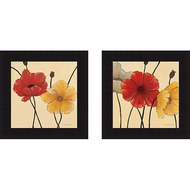 Carol Robinson 'Awaited Blooms I & II' Framed Print