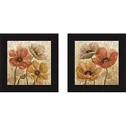 Conrad Knutsen 'Poppy Allure I & II' Framed Print Art