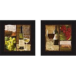 Carol Robinson 'Chardonnay & Burgundy ' Framed Print