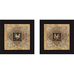 Richard Lane 'Classic Rooster I & Classic Rooster II' Framed Print Art