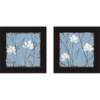 Carol Robinson 'Feeling Blue I & II' Framed Print Art