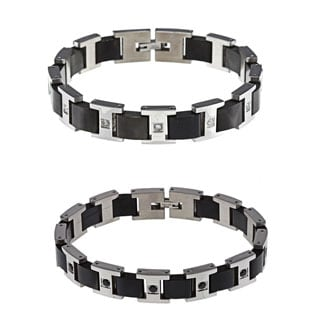 Stainless Steel Men's 1/2ct TDW Diamond Bracelet
