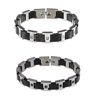 Stainless Steel Men's 1/2ct TDW Diamond Bracelet