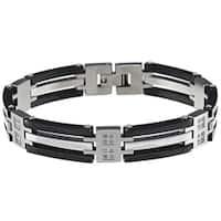 Stainless Steel Men's 1/4ct TDW Diamond Bracelet