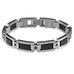 Stainless Steel Men's 1/2ct TDW Black Diamond Bracelet|https://ak1.ostkcdn.com/images/products/6135401/Stainless-Steel-Mens-1-2ct-TDW-Black-Diamond-Bracelet-P13797650.jpg?impolicy=medium