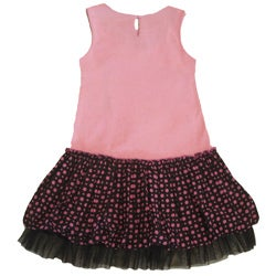Beetlejuice London Girl's 'Pretty In Pink' Polka Dot/Bow Dress - Thumbnail 1