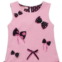 Beetlejuice London Girl's 'Pretty In Pink' Polka Dot/Bow Dress - Thumbnail 2
