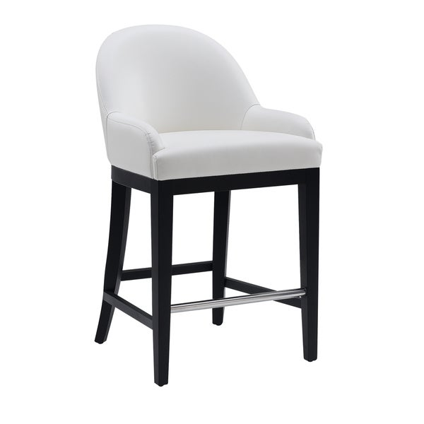 "Sunpan '5West' Haven 26"" White Counter Stool"