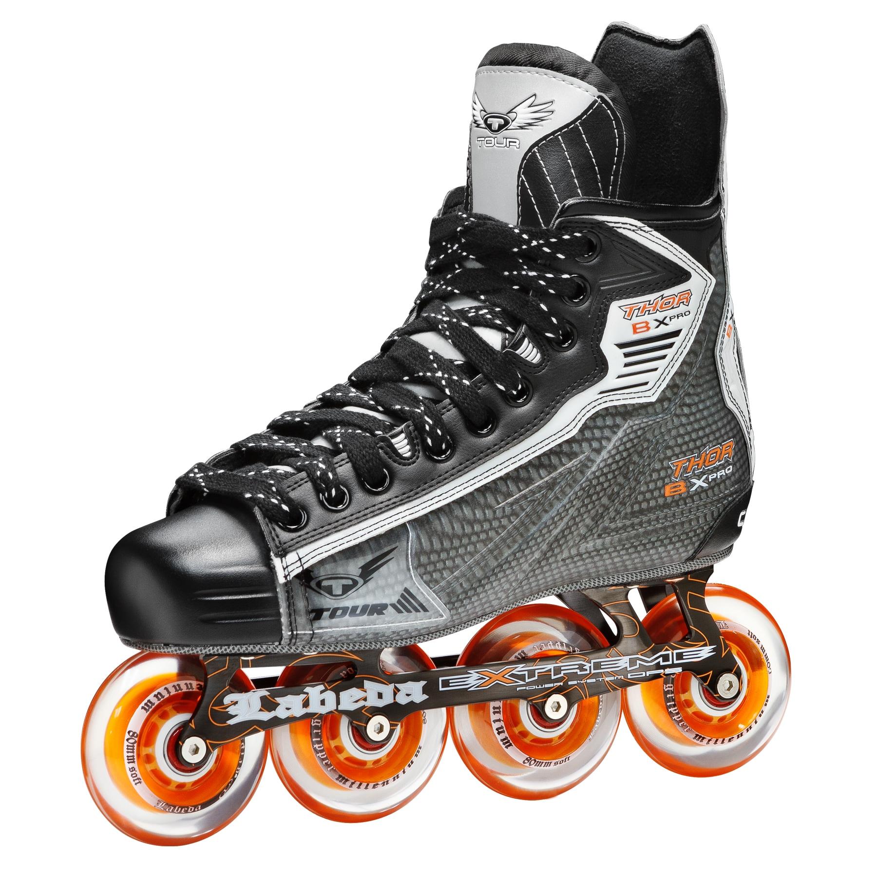 Tour Hockey Thor Bx Pro Inline Hockey Skates Black Gray