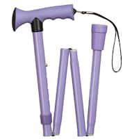 HealthSmart Lavender Folding Comfort Grip Cane