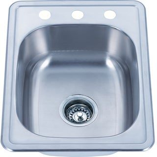 Fine Fixtures Top Mount Stainless Steel Single Bowl Kitchen Sink