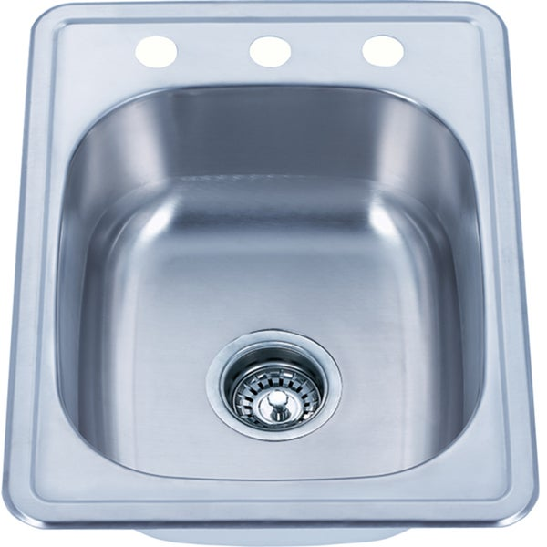 Fine Fixtures Top Mount Stainless Steel Single Bowl Kitchen Sink ...