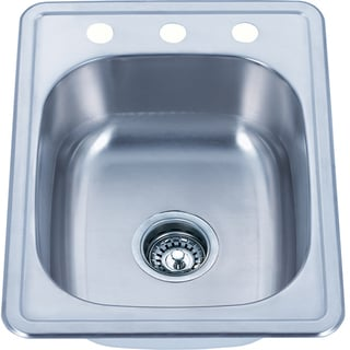 Fine Fixtures Top Mount Stainless Steel Single Bowl Kitchen Sink