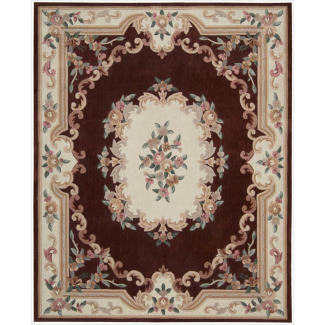 Nourison Hand-tufted Burgundy Overland Street Rug (7'3 x 9'3)