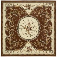 Nourison Hand-tufted Persimmon Overland Street Rug - 7' x 7'