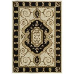 Nourison Hand-tufted Ivory Overland Street Rug (5' x 7'6)