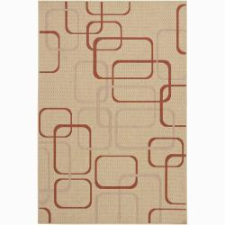Artist's Loom Indoor/Outdoor Contemporary Geometric Rug - 8' x 11'