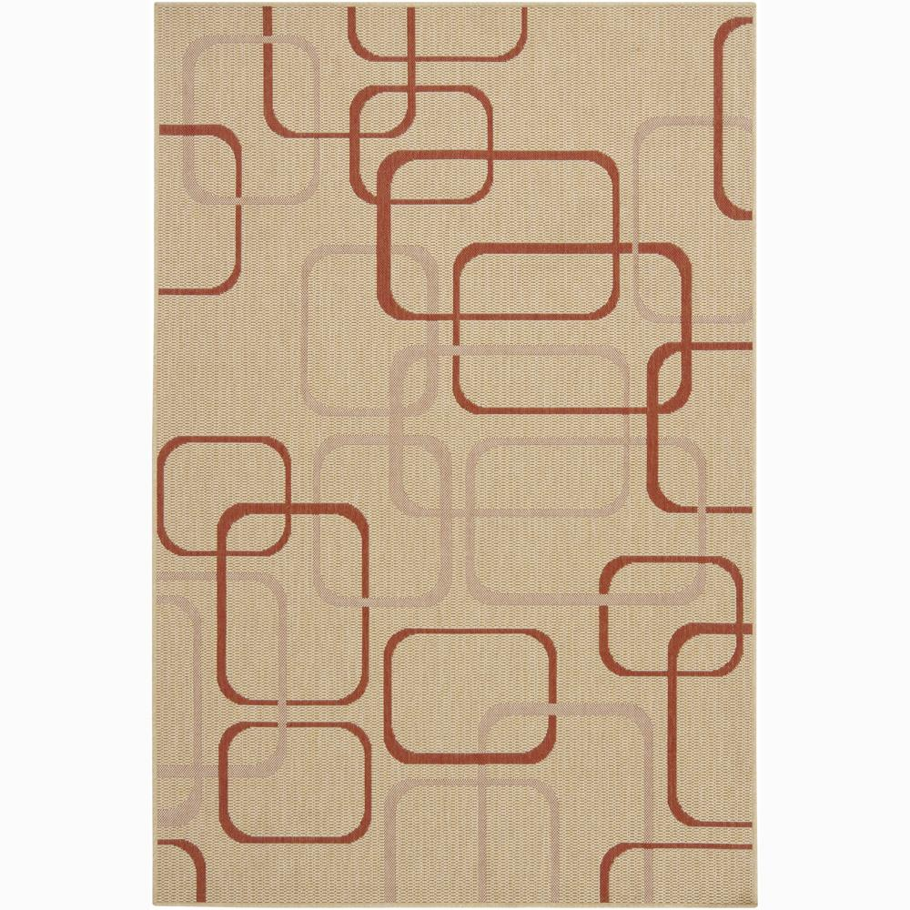 Artist's Loom Indoor/Outdoor Contemporary Geometric Rug - 5' x 8'