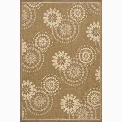 Artist's Loom Indoor/Outdoor Transitional Floral Rug - 8' x 11' - Thumbnail 0