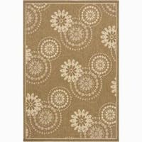 Artist's Loom Indoor/Outdoor Transitional Floral Rug - 8' x 11'