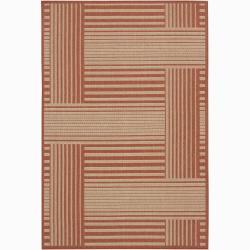 Artist's Loom Indoor/Outdoor Contemporary Geometric Rug (5' x 8')