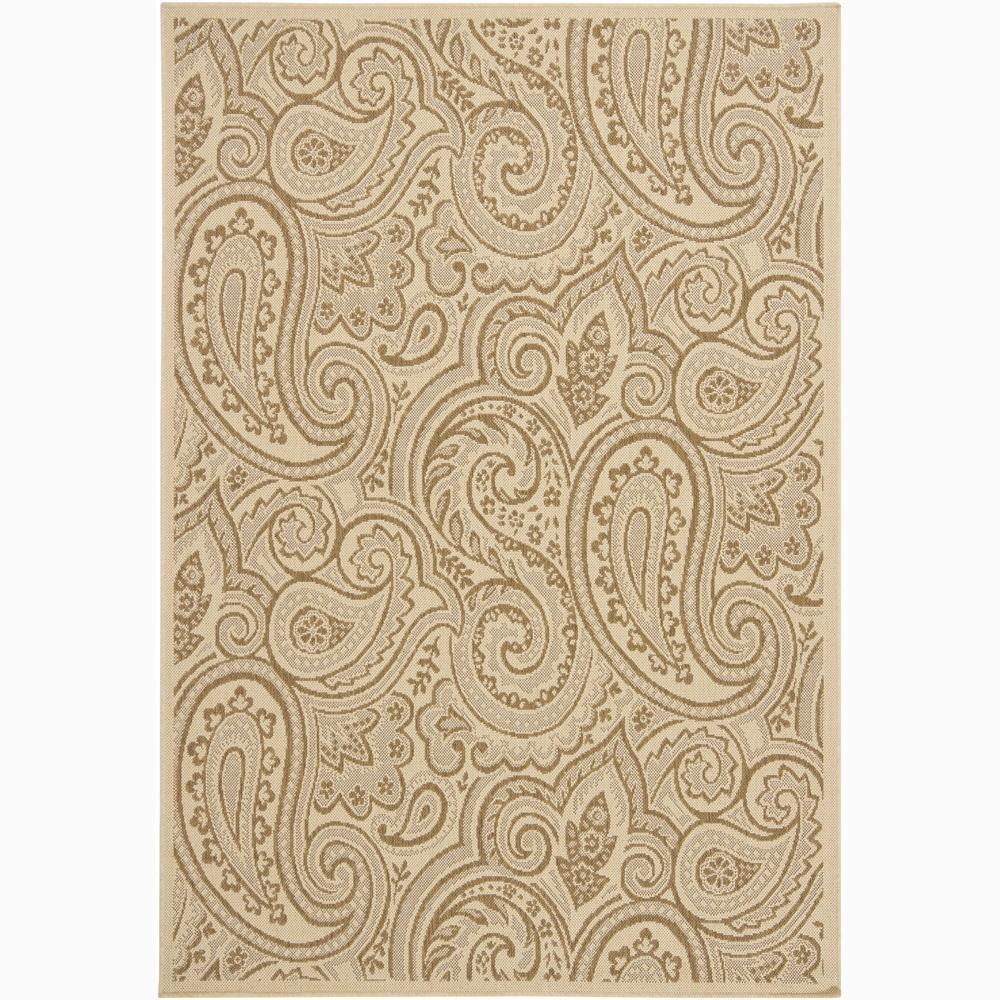Artist's Loom Indoor/Outdoor Transitional Floral Rug (8' x 11')