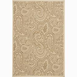 Artist's Loom Indoor/Outdoor Transitional Floral Rug (8' x 11')