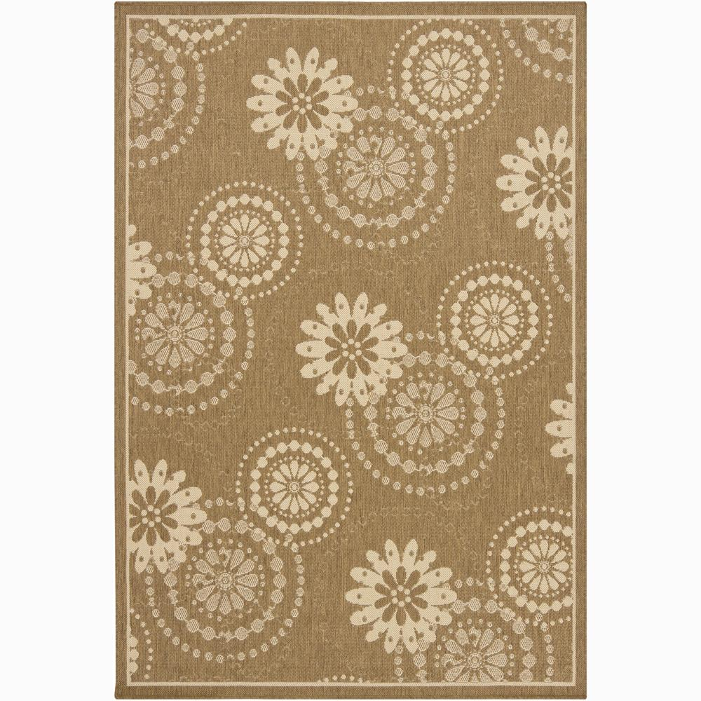 Artist's Loom Indoor/Outdoor Transitional Floral Rug (5' x 8')