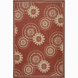 Artist's Loom Indoor/Outdoor Transitional Floral Rug (5' x 8')