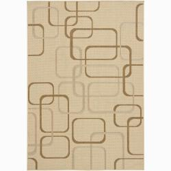 Artist's Loom Indoor/Outdoor Contemporary Geometric Rug - 8' x 11' - Thumbnail 0
