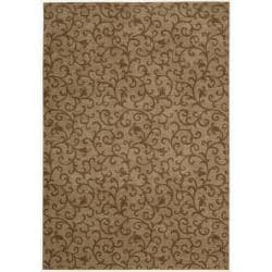 Nourison Somerset Gold Area Rug - 5'6 x 7'5 - Thumbnail 0