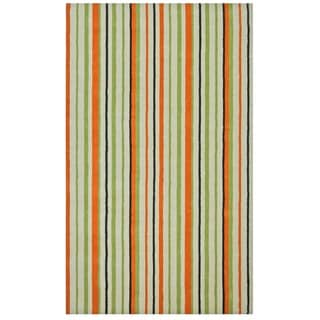 Hand-Tufted Cosmo Striped Wool Rug (4' x 6')