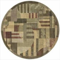 Nourison Somerset Multicolor Area Rug (5'6 Round) - 5'6